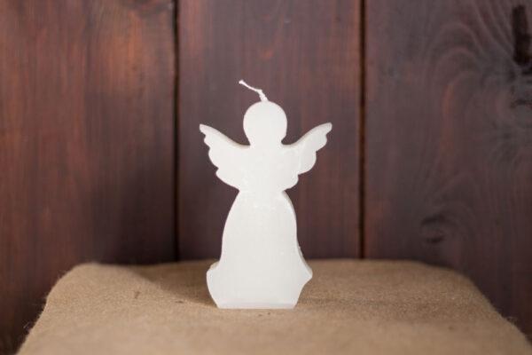 kaars engel wit